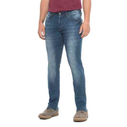 PD&C Stretch Unbelted Jeans (For Men) in Light Stone Wash - Closeouts