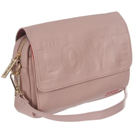 Peace Love World Crossbody Bag (For Women) in Dusty Rose