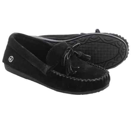 Peace Mocs by Old Friend Doris Moccasins - Suede (For Women) in Black - Closeouts