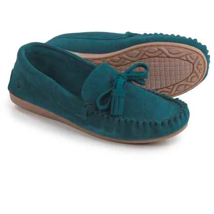 Peace Mocs by Old Friend Doris Moccasins - Suede (For Women) in Blue - Closeouts