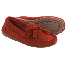 Peace Mocs by Old Friend Doris Moccasins - Suede (For Women) in Poppy - Closeouts