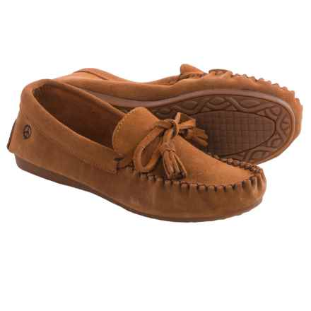 Peace Mocs by Old Friend Doris Moccasins - Suede (For Women) in Tan - Closeouts