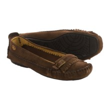 Peace Mocs by Old Friend Emily Moccasins - Suede (For Women) in Chocolate Brown - Closeouts