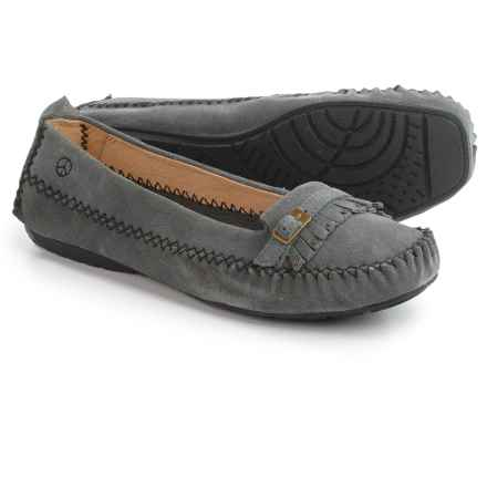 Peace Mocs by Old Friend Emily Moccasins - Suede (For Women) in Gray - Closeouts