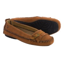Peace Mocs by Old Friend Emily Moccasins - Suede (For Women) in Tan - Closeouts