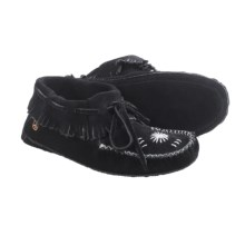 Peace Mocs by Old Friend Kristina Moccasins - Suede (For Women) in Black - Closeouts