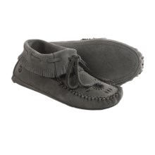 Peace Mocs by Old Friend Kristina Moccasins - Suede (For Women) in Grey - Closeouts