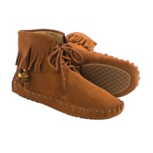 Peace Mocs by Old Friend Margaret Mid Moccasins - Suede (For Women) in Tan - Closeouts
