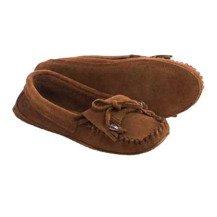 Peace Mocs by Old Friend Megan Moccasins - Suede (For Women) in Brown - Closeouts