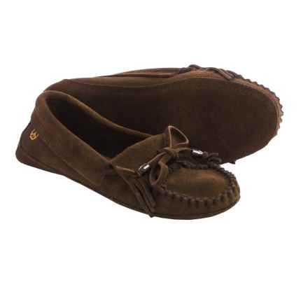 Peace Mocs by Old Friend Megan Moccasins - Suede (For Women) in Chocolate Brown - Closeouts
