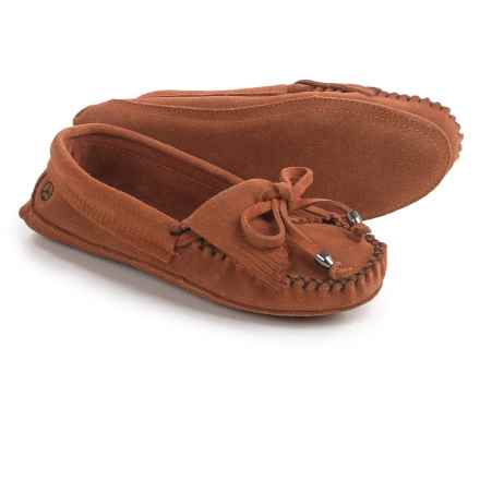 Peace Mocs by Old Friend Megan Moccasins - Suede (For Women) in Tan - Closeouts
