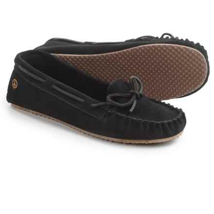 Peace Mocs by Old Friend Tabitha Moccasins - Suede (For Women) in Black - Closeouts