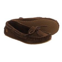 Peace Mocs by Old Friend Tabitha Moccasins - Suede (For Women) in Chocolate - Closeouts