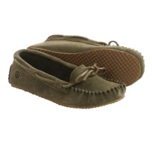 Peace Mocs by Old Friend Tabitha Moccasins - Suede (For Women) in Green - Closeouts