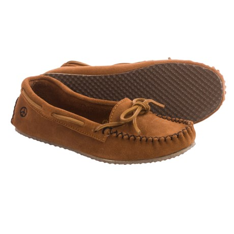Peace Mocs by Old Friend Tabitha Moccasins - Suede (For Women) in Tan