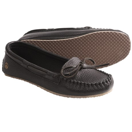 Peace Mocs Jean Shoes - Leather (For Women) in Black