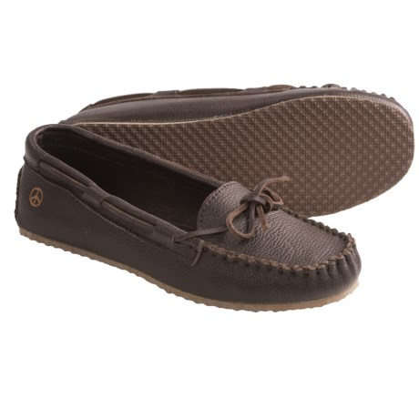 Peace Mocs Jean Shoes - Leather (For Women) in Tan