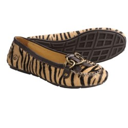 Peace Mocs Mary Shoes - Leather (For Women) in Zebra