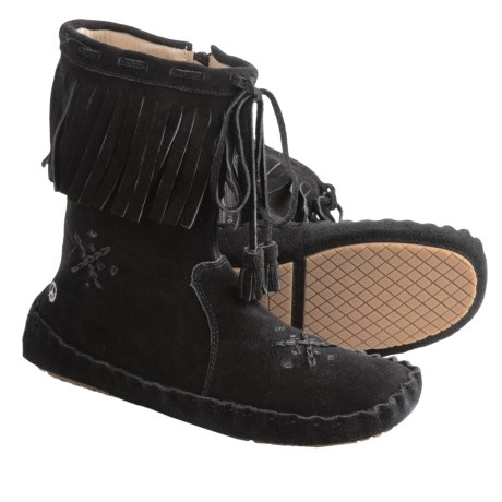Peace Mocs Tina Boots (For Women) in Black
