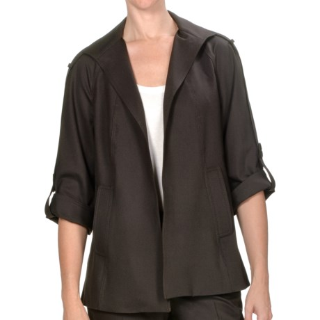 Peace of Cloth Panticular Deirdre Swing Jacket - Monaco Twill (For Women) in Brown