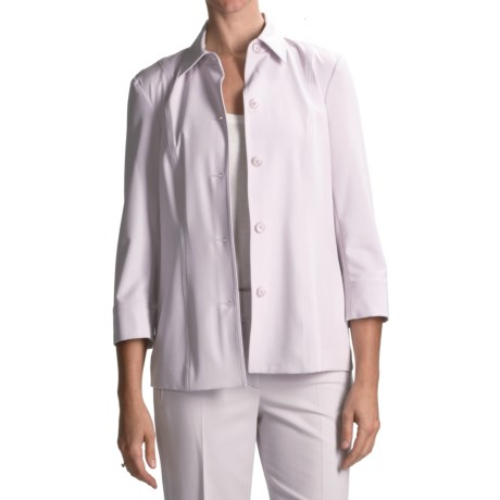 Peace of Cloth Panticular Heidi Shirt Jacket - 3/4 Sleeve (For Women) in Opal