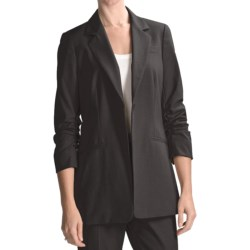 Peace of Cloth Panticular Lizzy Mini-Check Jacket - 3/4 Sleeve (For Women) in Grey