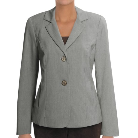 Peace of Cloth Panticular Marisa Jacket - Easy Stripe (For Women) in Caviar