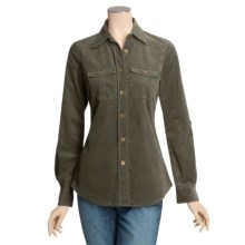 Peace of Cloth Panticular Natlee Shirt - Feather Cord, Stretch Cotton (For Women) in Spruce - Closeouts
