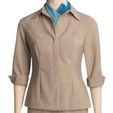 Peace of Cloth Panticular Rachel Shirt Jacket - 3/4 Sleeve (For Women) in Oatmeal - Closeouts