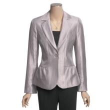 Peace of Cloth Panticular Sydney Jacket - Luster Twill (For Women) in Silver - Closeouts