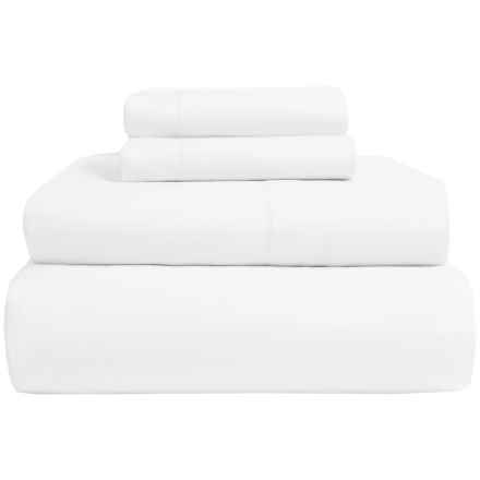 Peacock Alley Amante Cotton Sateen Sheet Set - 300 TC, King in White - Overstock