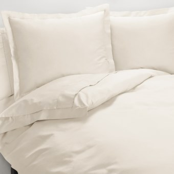 Peacock Alley Ballad Egyptian Cotton Duvet Cover Set - 310 TC, King in Ivory