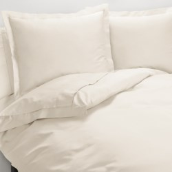 Peacock Alley Ballad Eqyptian Cotton Duvet Cover Set - Queen, 310 TC in Ivory