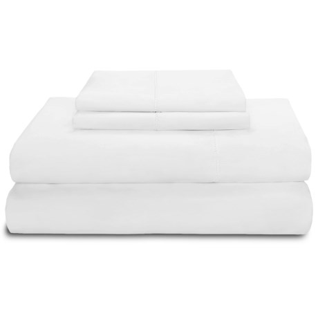 Peacock Alley Ballad Hemstitch Sheet Set - Queen, 310 TC Cotton in Ivory