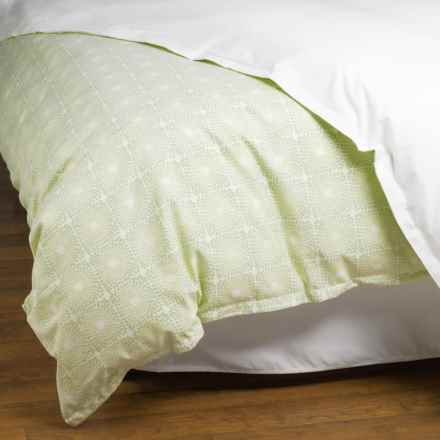 Peacock Alley Bardot Collection Duvet Cover - Queen, Cotton in Mint - Overstock
