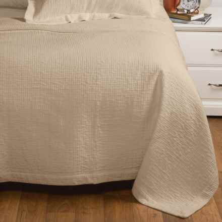 Peacock Alley Bradley Collection Stonewashed Coverlet - Queen, Egyptian Cotton in Linn - Overstock
