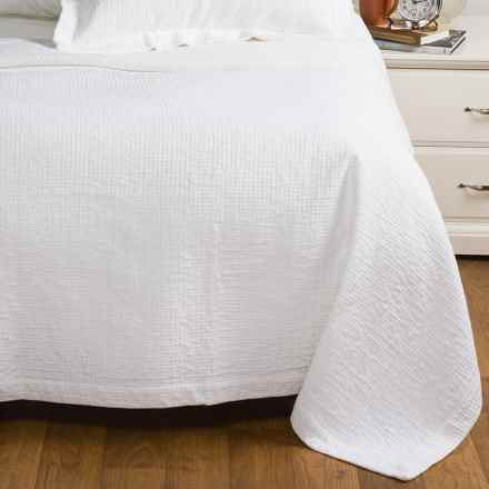 Peacock Alley Bradley Collection Stonewashed Coverlet - Queen, Egyptian Cotton in White - Overstock