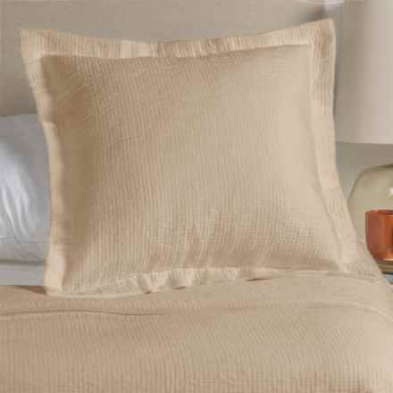 Peacock Alley Bradley Collection Stonewashed Pillow Sham - Euro, Egyptian Cotton in Linen - Overstock