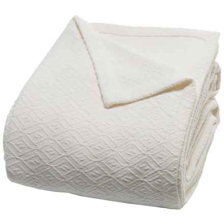 Peacock Alley Diamond Blanket - Queen in Ivory - Closeouts