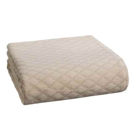 Peacock Alley Diamond Coverlet Bedspread - King in Linen - Closeouts