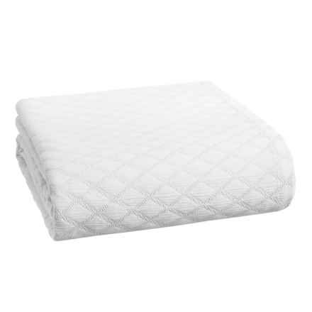 Peacock Alley Diamond Coverlet Bedspread - Queen in White - Closeouts