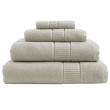 Peacock Alley Dublin Bath Towel - Low Twist, Egyptian Cotton in Platinum - Overstock