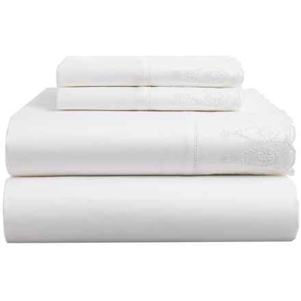 Peacock Alley Fitted Sheet - Queen in White - Closeouts