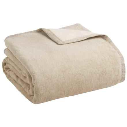 Peacock Alley Four Season Reversible Egyptian Cotton Blanket - King in Linen/Natural - Overstock
