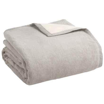 Peacock Alley Four Season Reversible Egyptian Cotton Blanket - Queen in Flint/Natural - Overstock