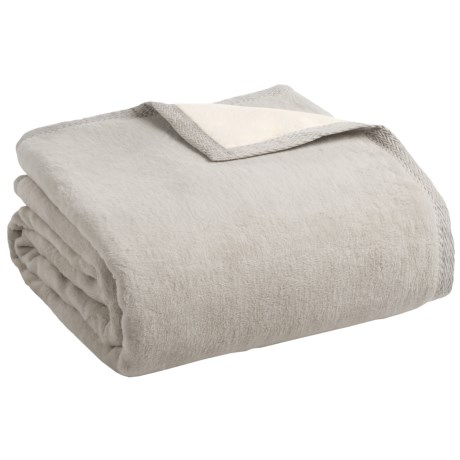 Peacock Alley Four Season Reversible Egyptian Cotton Blanket - Queen in Flint/Natural