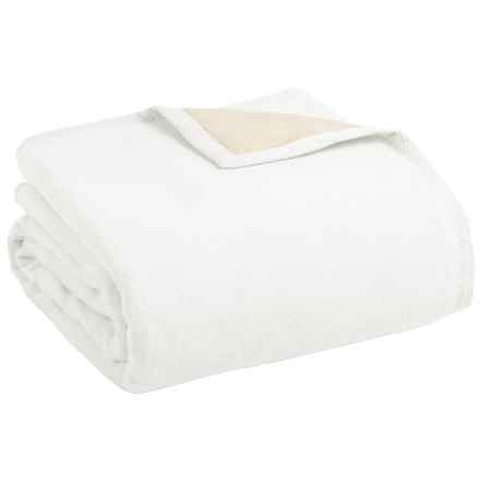 Peacock Alley Four Season Reversible Egyptian Cotton Blanket - Queen in White/Natural - Overstock