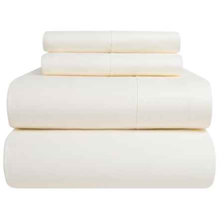 Peacock Alley Harmony Collection Egyptian Cotton Sheet Set - Queen, 300 TC in Ivory - Overstock