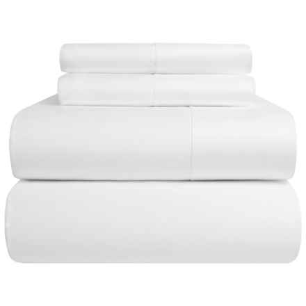 Peacock Alley Harmony Collection Egyptian Cotton Sheet Set - Queen, 300 TC in White - Overstock