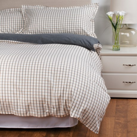 Peacock Alley Heathered Flannel Duvet Set King